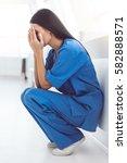 Beautiful Doctor In Blue Scrub...