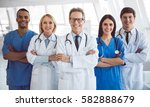 successful team of medical... | Shutterstock . vector #582888679