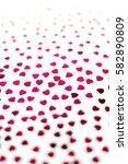 hearts. unfocused background. | Shutterstock . vector #582890809