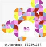 vector circle abstract...   Shutterstock .eps vector #582891157