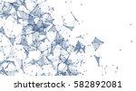 triangle geometric  background... | Shutterstock . vector #582892081