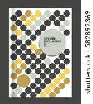 brochure   annual report  ... | Shutterstock .eps vector #582892369
