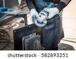 Worker In Furniture Factory...