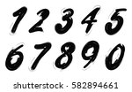 grunge numbers set.vector... | Shutterstock .eps vector #582894661