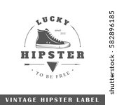 hipster label isolated on white ...
