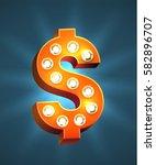 red retro casino marquee vector ... | Shutterstock .eps vector #582896707