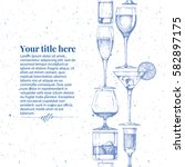vector vintage engraving... | Shutterstock .eps vector #582897175