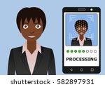 biometrical identification.... | Shutterstock . vector #582897931
