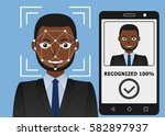 biometrical identification.... | Shutterstock . vector #582897937