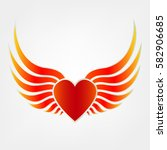 wings and heart | Shutterstock .eps vector #582906685