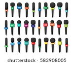 microphone reporter equipment.... | Shutterstock .eps vector #582908005