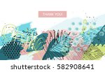 tropical style universal floral ... | Shutterstock .eps vector #582908641