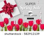 spring poster template. vector... | Shutterstock .eps vector #582912139
