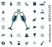 champagne glasses icon  wedding ...