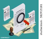 contract  candidate choice flat ... | Shutterstock .eps vector #582915181