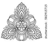 vector henna tatoo mandala.... | Shutterstock .eps vector #582915715