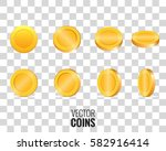 gold coins. vector coins in...