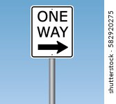 one way road sign | Shutterstock .eps vector #582920275