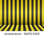 bright striped scene. empty... | Shutterstock .eps vector #582921505