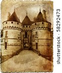 castle Chaumont - retro styled picture - stock photo