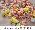 Shrimp Boil Party On Table