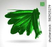 brush stroke and texture.... | Shutterstock .eps vector #582925279