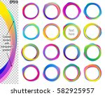 banners from text balloons with ... | Shutterstock .eps vector #582925957