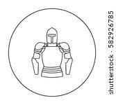 plate armor icon in outline...   Shutterstock .eps vector #582926785