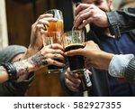 craft beer booze brew alcohol... | Shutterstock . vector #582927355