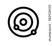 molecule  atom mini line  icon  ... | Shutterstock .eps vector #582928435