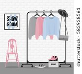 vector illustration with coat... | Shutterstock .eps vector #582928561