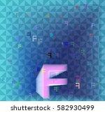 f alphabet template texture | Shutterstock .eps vector #582930499