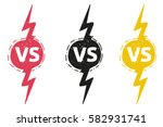 yellow outline versus sign like ... | Shutterstock .eps vector #582931741