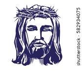 jesus christ  the son of god in ... | Shutterstock .eps vector #582934075