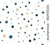 abstract hand drawn polka dots... | Shutterstock .eps vector #582935101