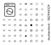 machine washing laundry symbols ... | Shutterstock .eps vector #582944329