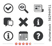 information icons. delete and... | Shutterstock .eps vector #582944911