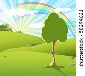 rainbow   Shutterstock .eps vector #58294621