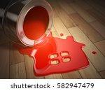 house renovation construction... | Shutterstock . vector #582947479