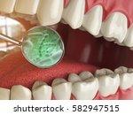 bacterias and viruses around... | Shutterstock . vector #582947515