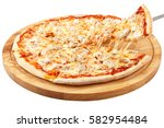pizza chicken  mozzarella ... | Shutterstock . vector #582954484