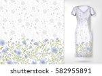 cute pattern in small simple... | Shutterstock . vector #582955891