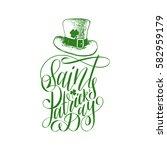 vector saint patrick's day hand ... | Shutterstock .eps vector #582959179