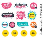 sale shopping banners. special... | Shutterstock .eps vector #582959464