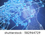 blockchain network   artificial ... | Shutterstock . vector #582964729