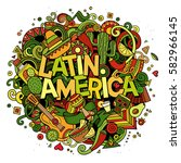 latin america colorful festive... | Shutterstock .eps vector #582966145