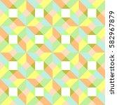 seamless pastel geometric... | Shutterstock .eps vector #582967879