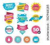 sale banners  online web... | Shutterstock .eps vector #582968185