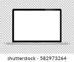 notebook. vector. realistic... | Shutterstock .eps vector #582973264
