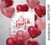 8 march. international women... | Shutterstock .eps vector #582975199